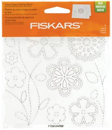Fiskars Flower Paper Piercing Stencil
