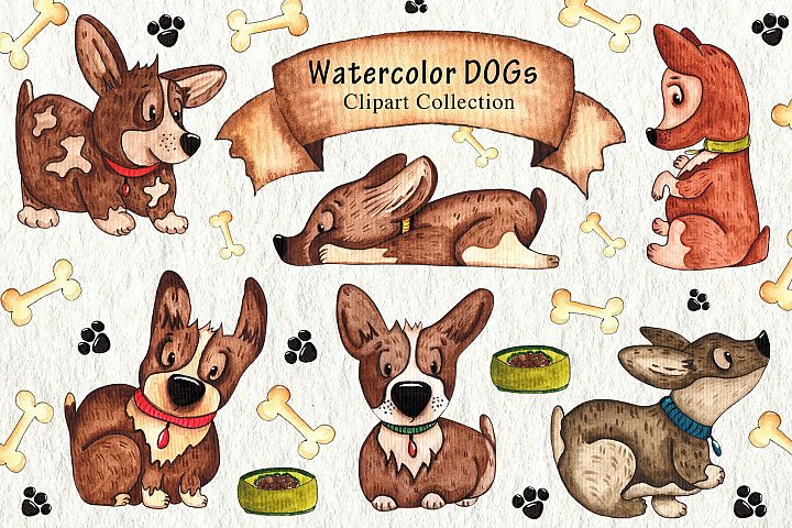 WaterColor_Dogs